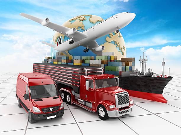Representación Visual de modos de transporte. - foto de stock