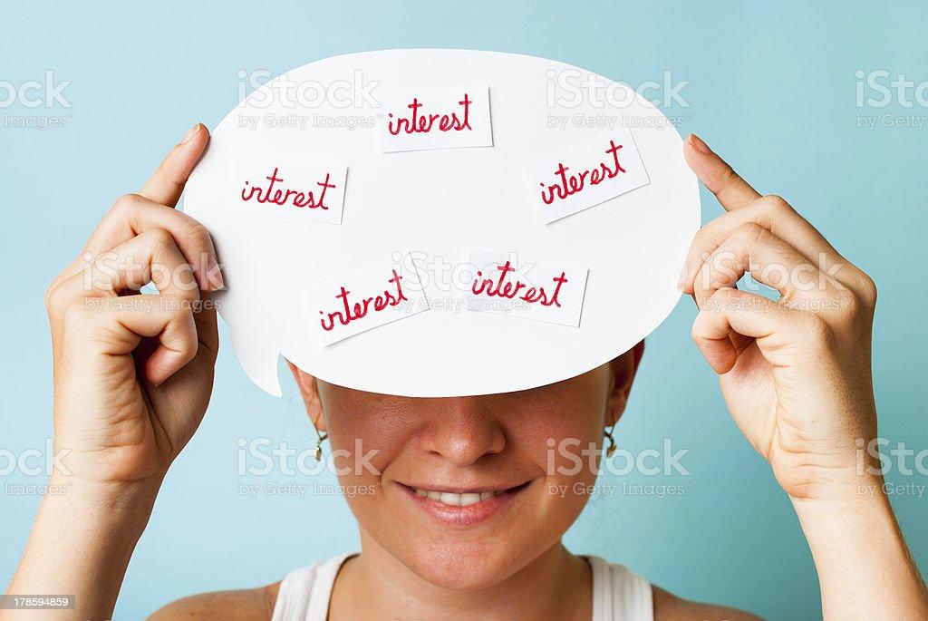 Visual social sharing stock photo