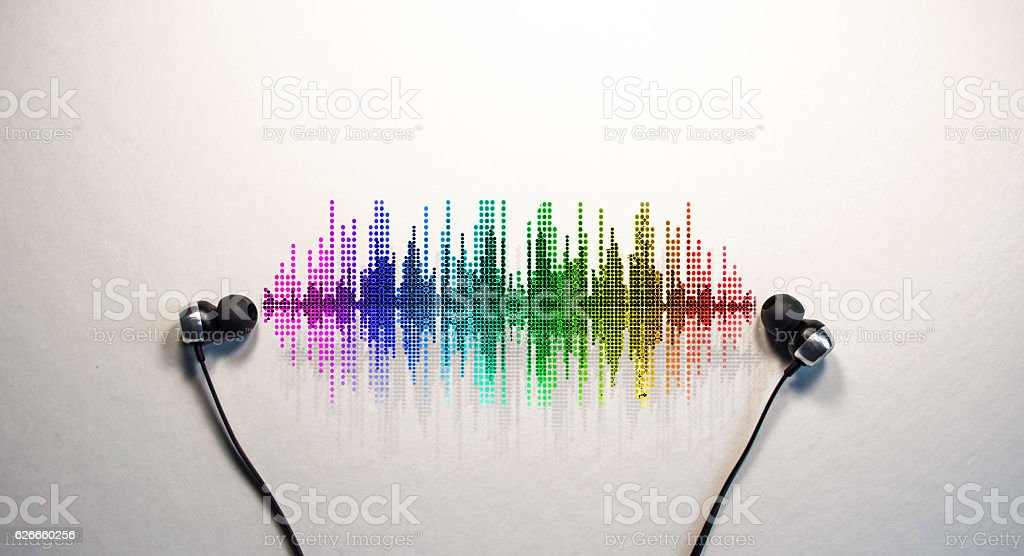 visual sounds stock photo