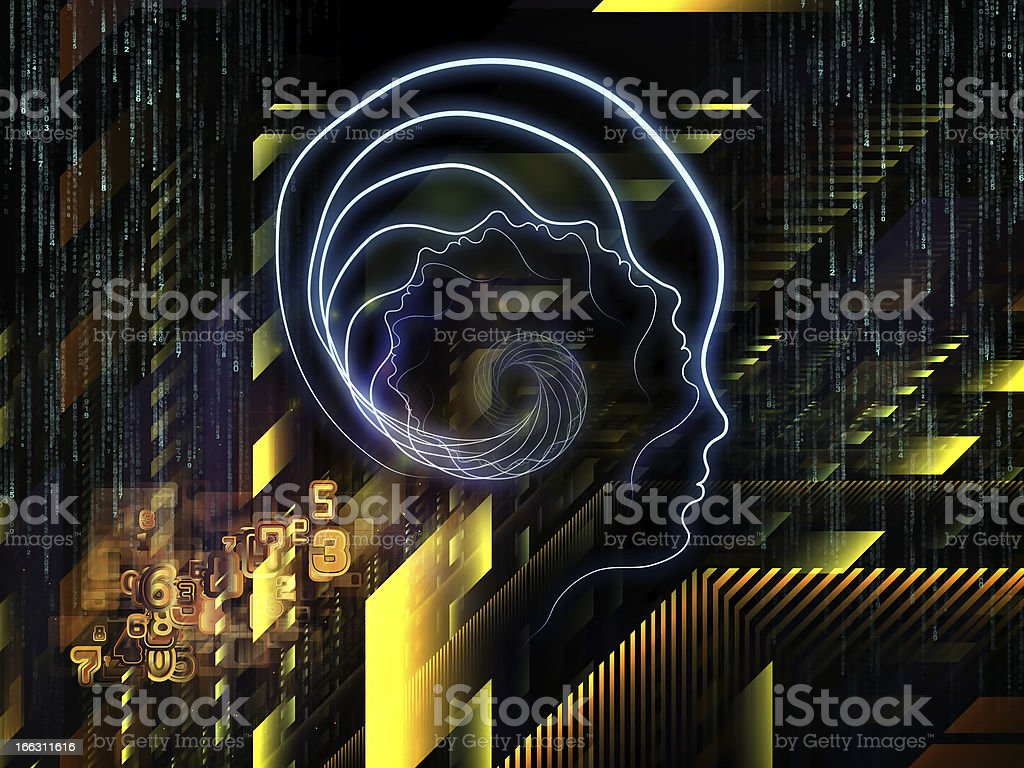 Visualization of Human Technology royalty-free stock photo