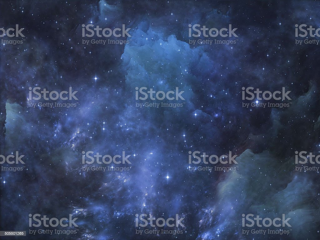 Visualization of Space stock photo