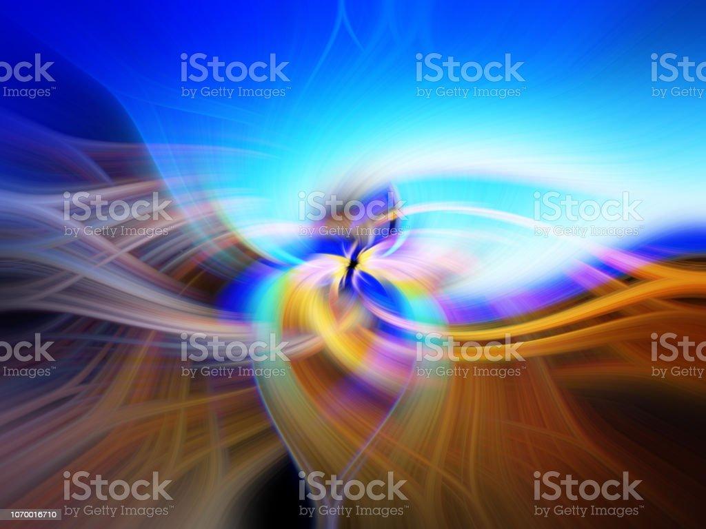 Visuell abstrakte verdrehten Licht auf eine gerahmte Hintergrund. Kraftvolle Energie-Element mit hypnotischen Effekt. Kosmischen Wellen. – Foto