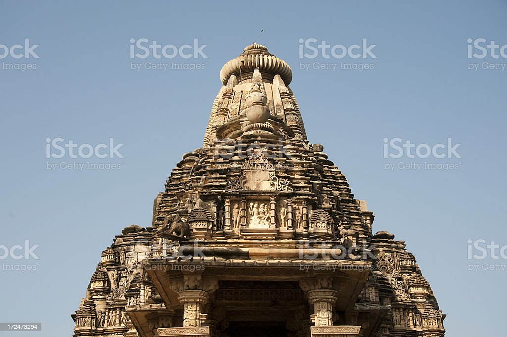 Visvanatha Temple. Khajuraho. royalty-free stock photo