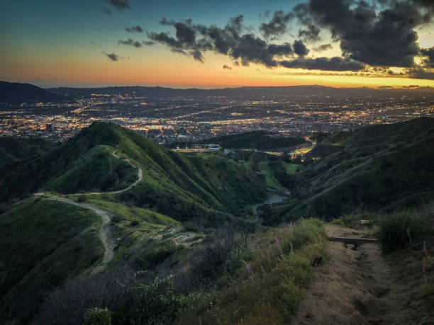 vital link trail in burbank, ca - san fernando valley stock photos and pictures