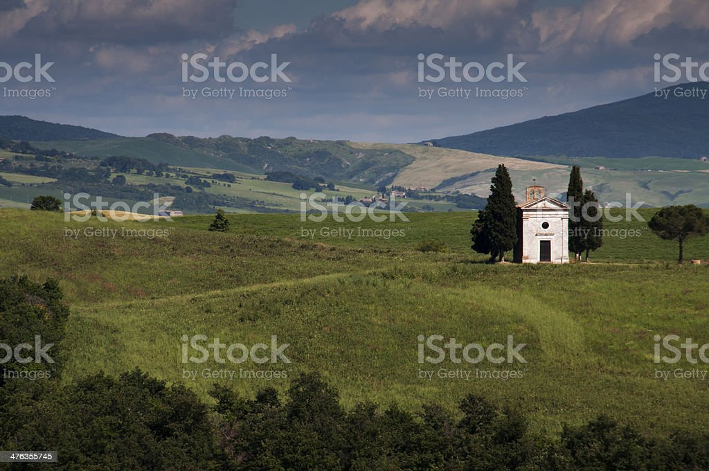 Cappella di Vitaleta royalty-free stock photo