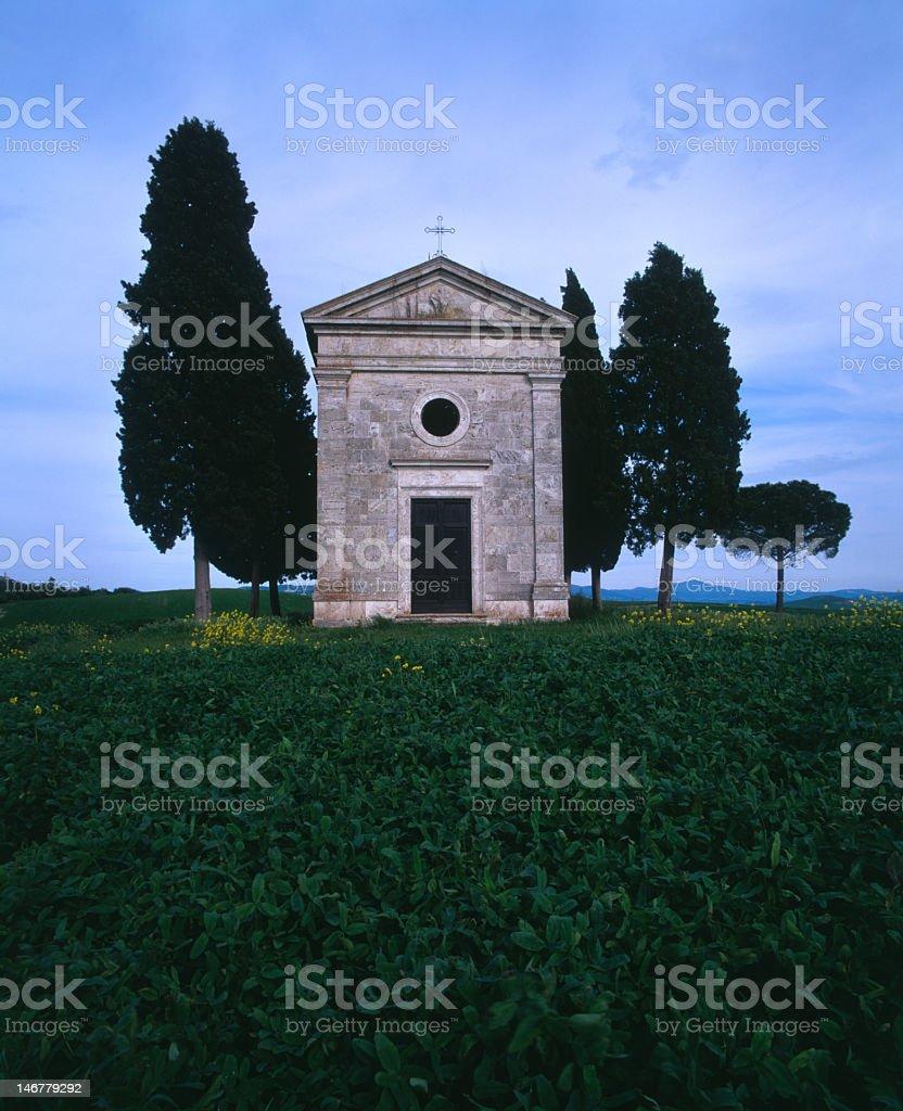 Vitaletta Chapel , Tuscany royalty-free stock photo