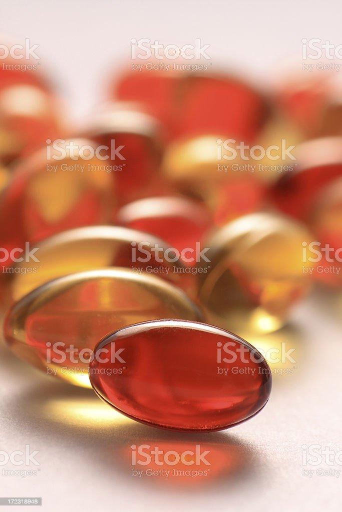 vitamin a and e capsules stock photo