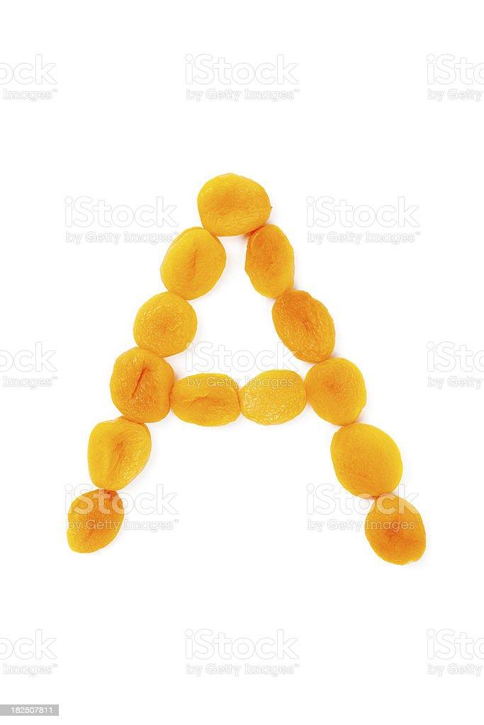 Vitamin A - Apricot stock photo
