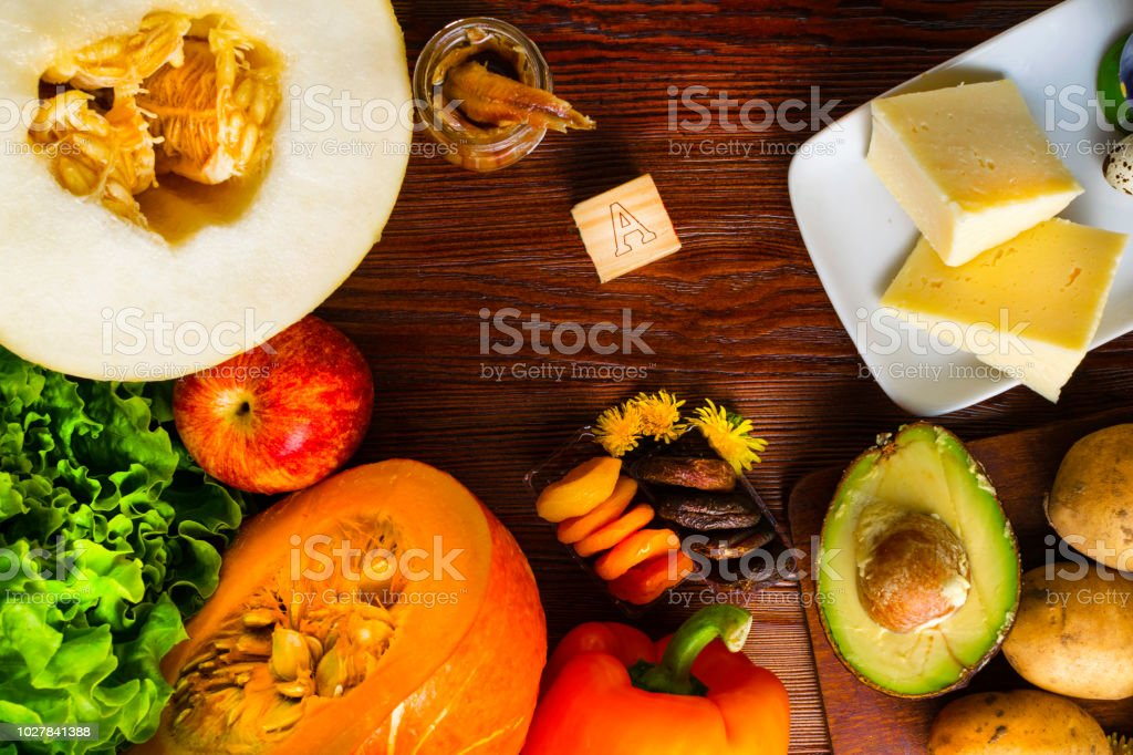 Vitamin A in food, Natural products rich in vitamin A as pepper,...