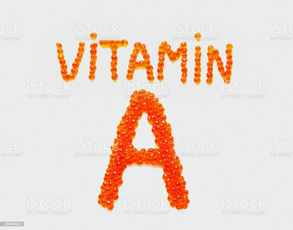 Vitamin A of red caviar stock photo