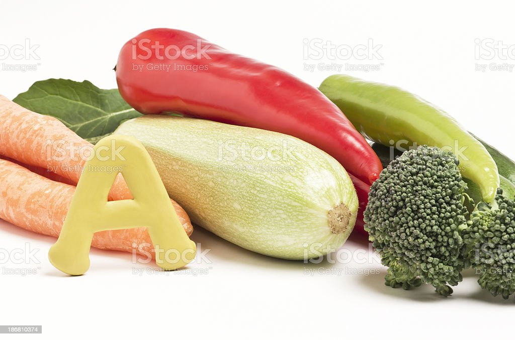 Vitamin A royalty-free stock photo