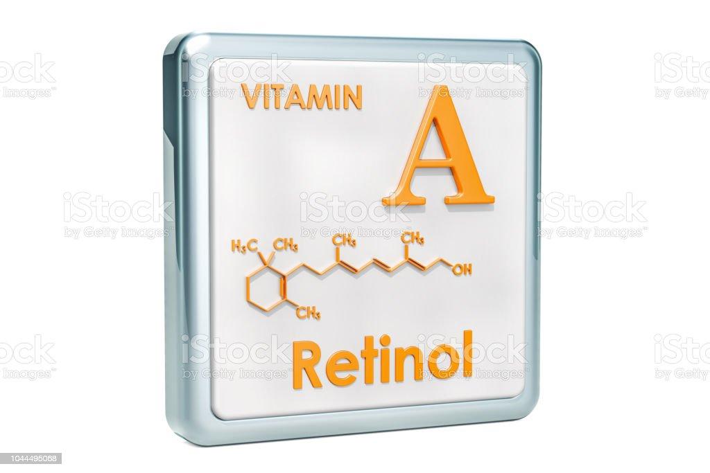 Vitamina A Retinol Icono Estructura Molecular Fórmula