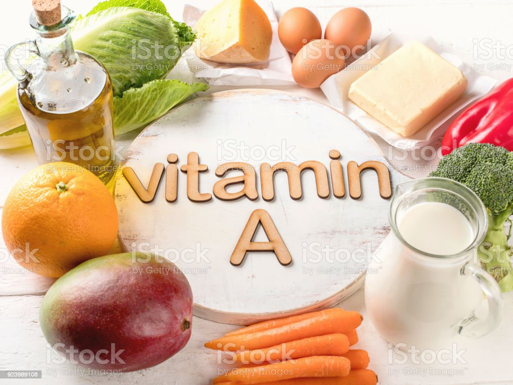Vitamin A Rich Foods royalty-free stock photo