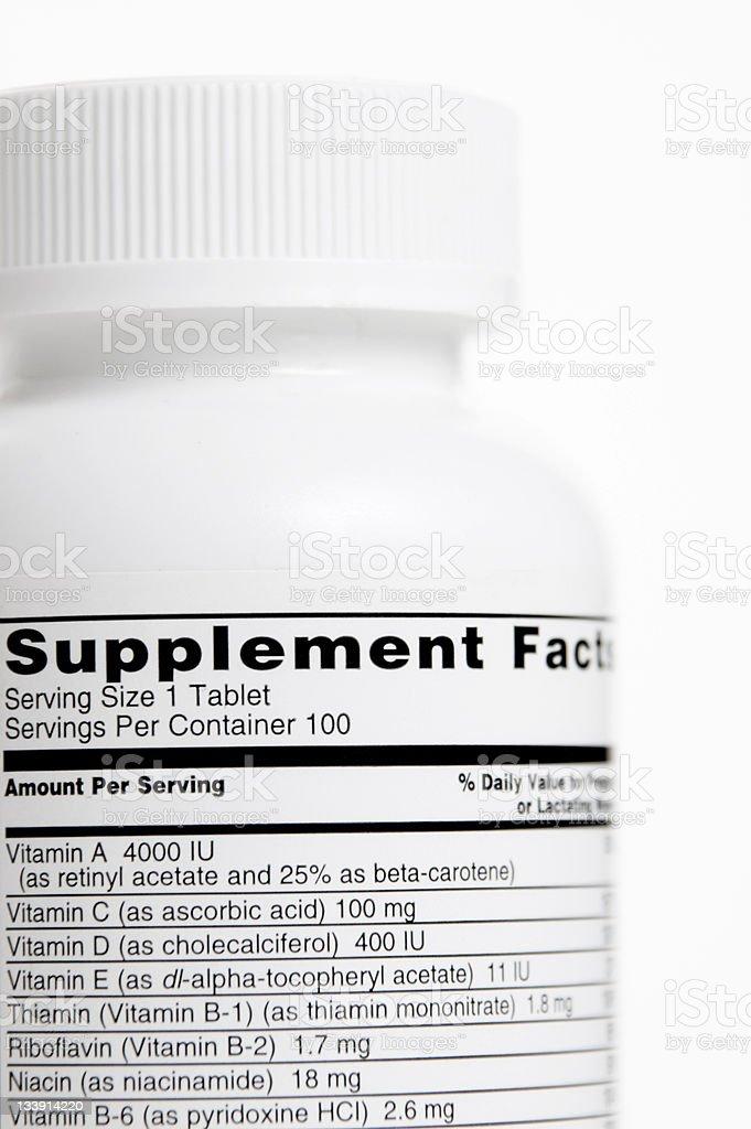 Vitamin Bottle royalty-free stock photo