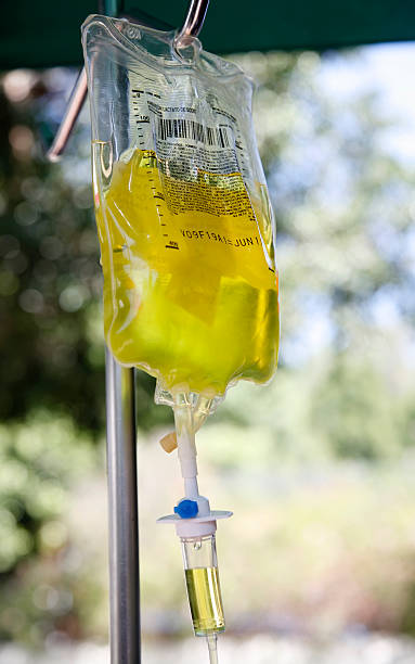 Vitamin C Intravenous Drip  saline drip stock pictures, royalty-free photos & images
