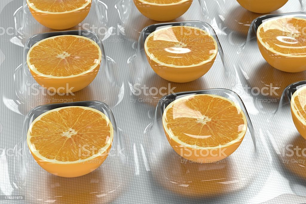 Vitamin C royalty-free stock photo