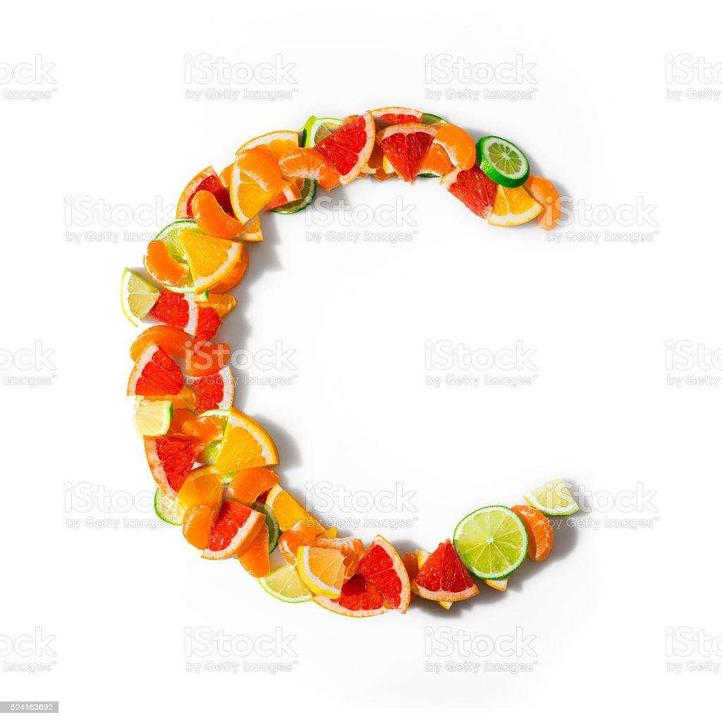 Vitamin C stock photo
