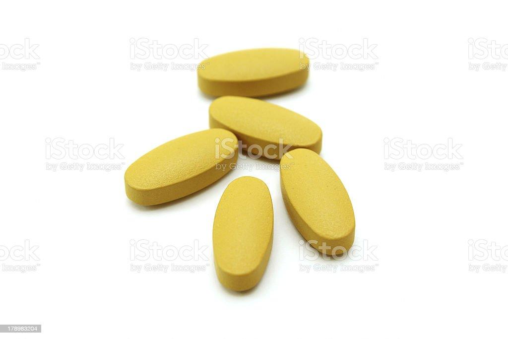 vitamin C tablets. royalty-free stock photo