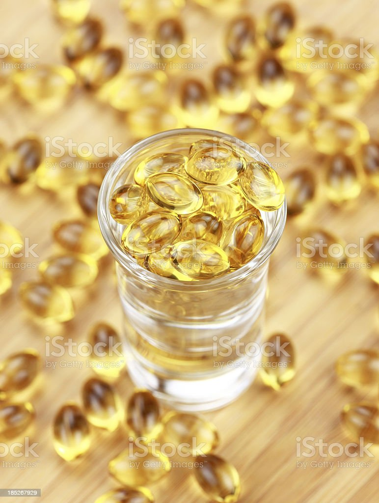 Vitamin capsules royalty-free stock photo