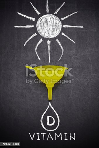 ,,Vitamin D'' written on blackboard