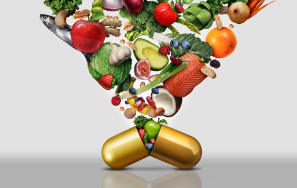 Vitamin Dietary Supplement stock photo