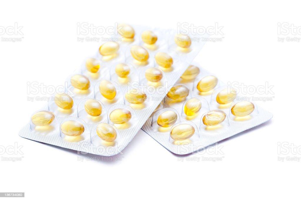 Vitamin E capsules royalty-free stock photo