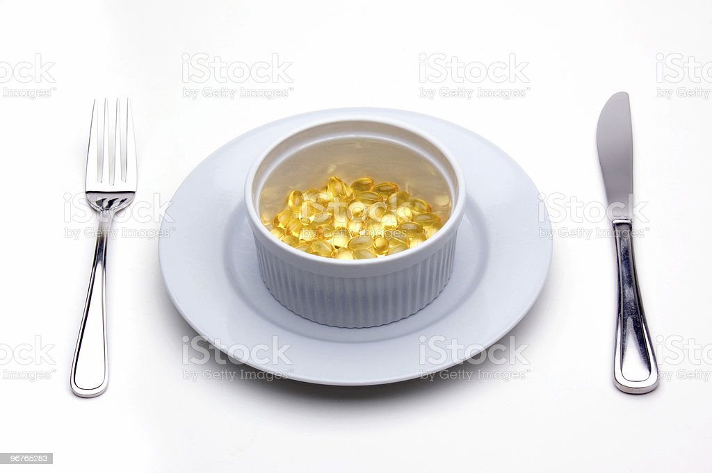 Vitamin E (Tocopherol) Lunch royalty-free stock photo