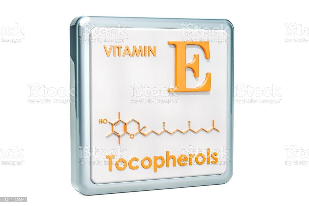 Vitamina E Tocoferoles Icono Estructura Molecular Fórmula