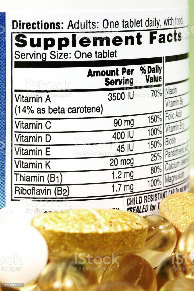 Vitamin Facts royalty-free stock photo