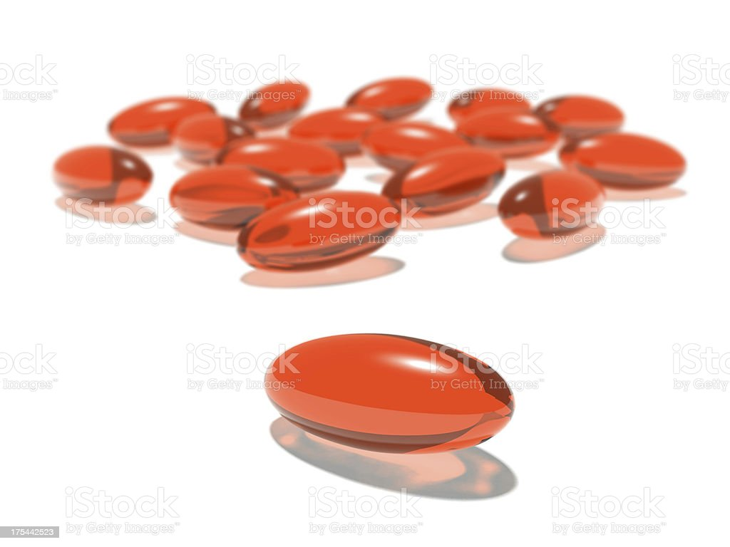 Vitamin gel pills royalty-free stock photo