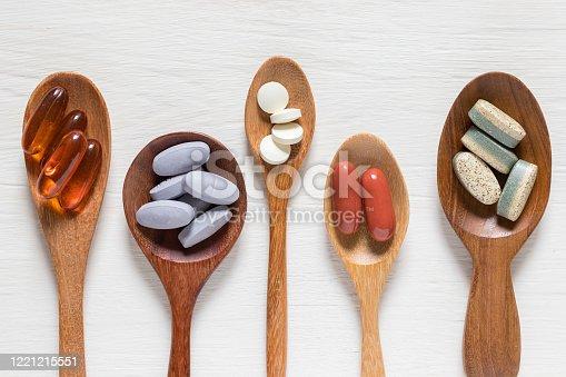 istock Vitamin pills 1221215551