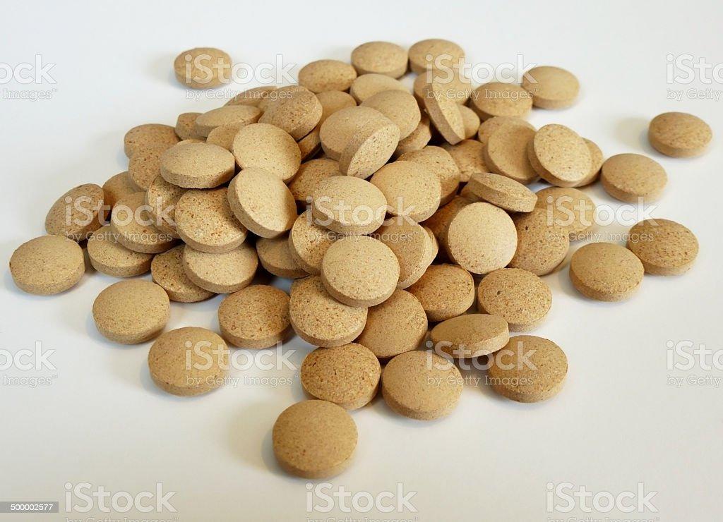 vitamin pills stock photo