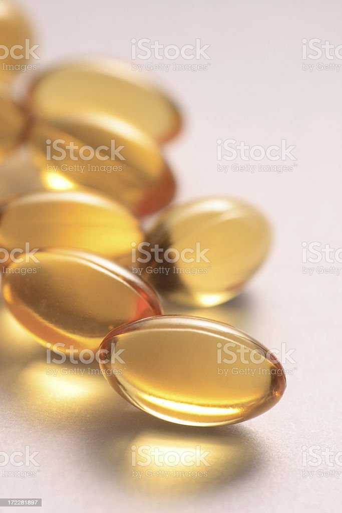 E vitamin supplement gel caps royalty-free stock photo