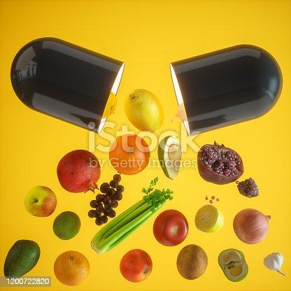 Vitamin Supplements Concepts