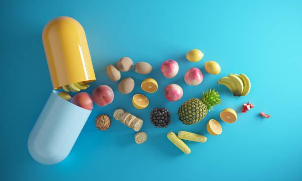 vitaminzusatz - nahrungsergänzungsmittel stock-fotos und bilder