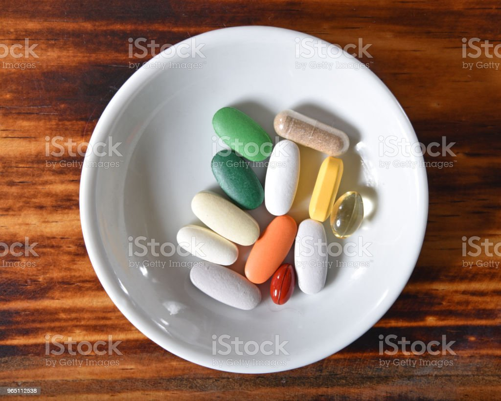 Vitamin supplements zbiór zdjęć royalty-free