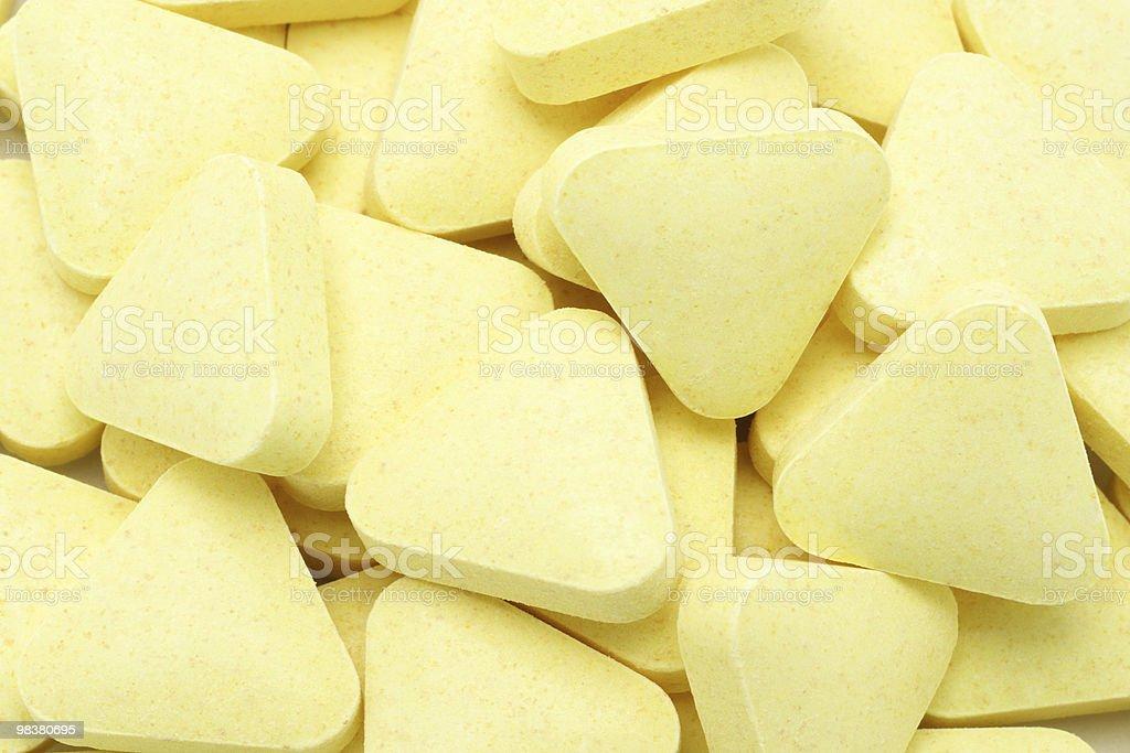 Vitamin tablets royalty-free stock photo