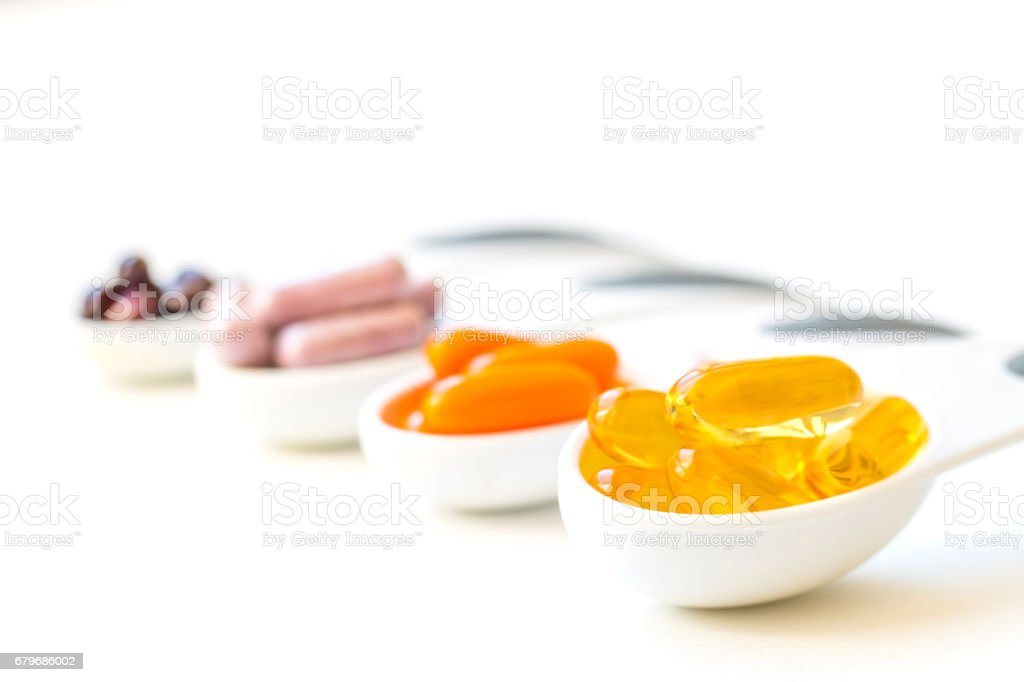 Vitamins and Healthy Supplements. stock photo