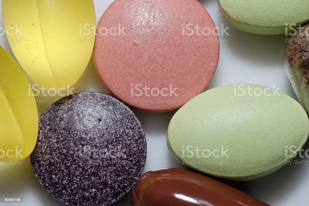 Vitamins and Minerals royalty-free stock photo
