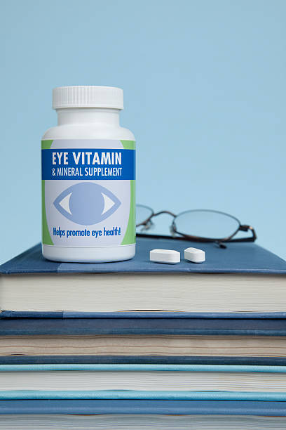 Vitamins for Eye Health stock photo