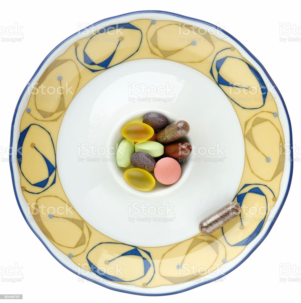 Vitamins in Egg Cup royalty-free stock photo