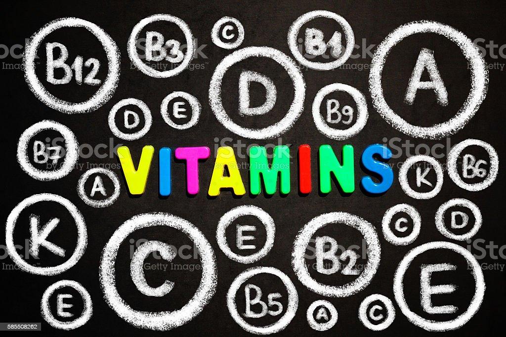 Vitamins stock photo