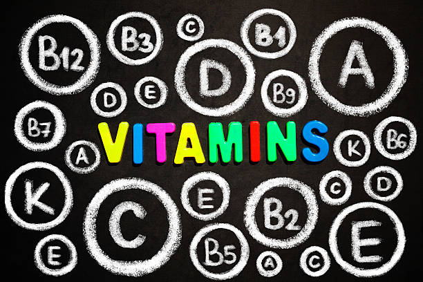 Vitamins stock photo