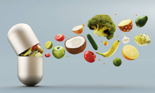 vitamine-pille - nahrungsergänzungsmittel stock-fotos und bilder