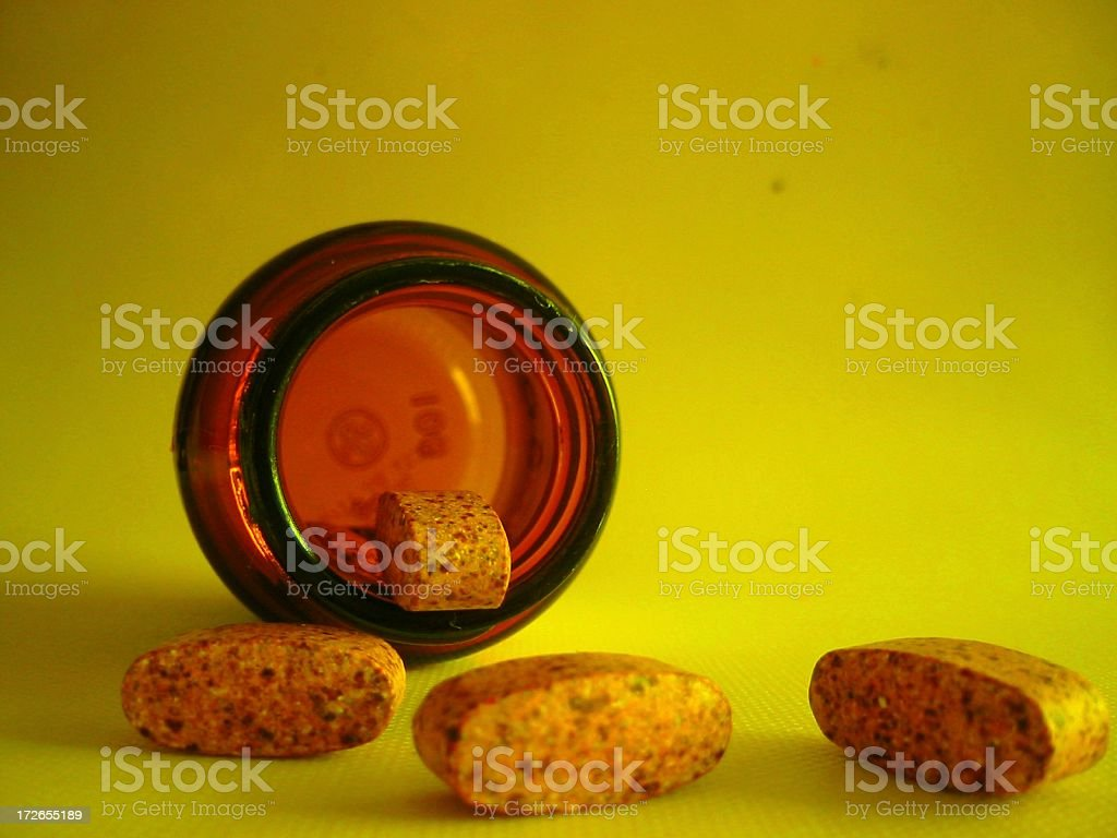 vitamins with green royalty-free stock photo