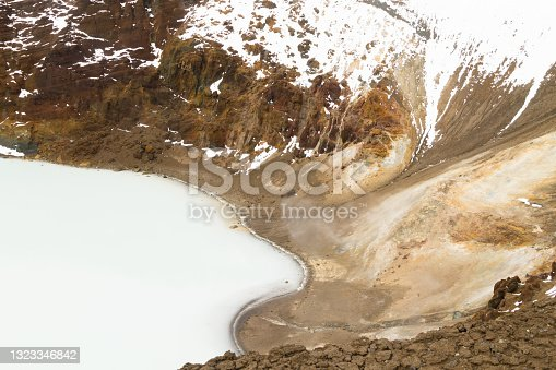 istock Viti caldera at Askja, central Iceland landmark 1323346842