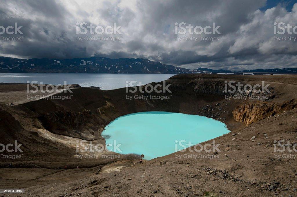 Viti Crater in Askia stock photo