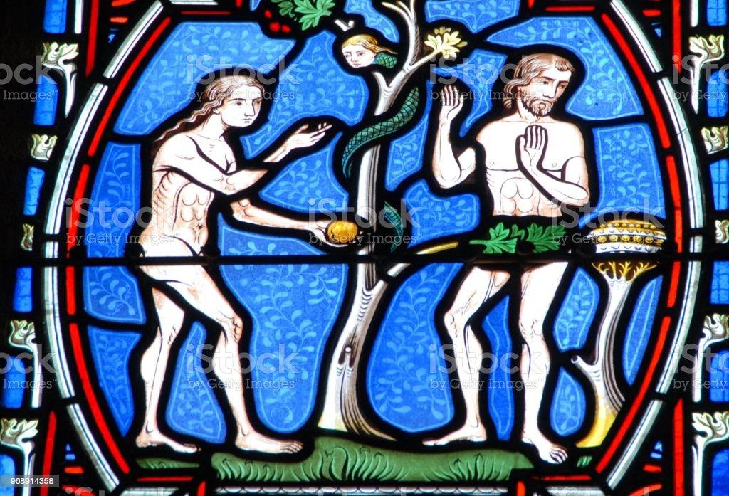 Vitrail Représentant Adam et Ève – Foto