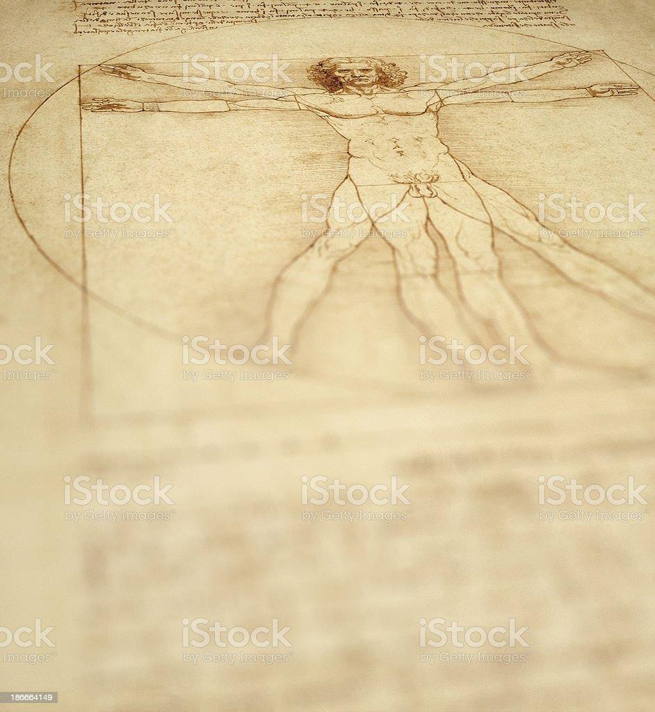 Vitruvian Man Background stock photo