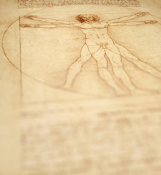 Vitruvischer Mann Hintergrund – Foto